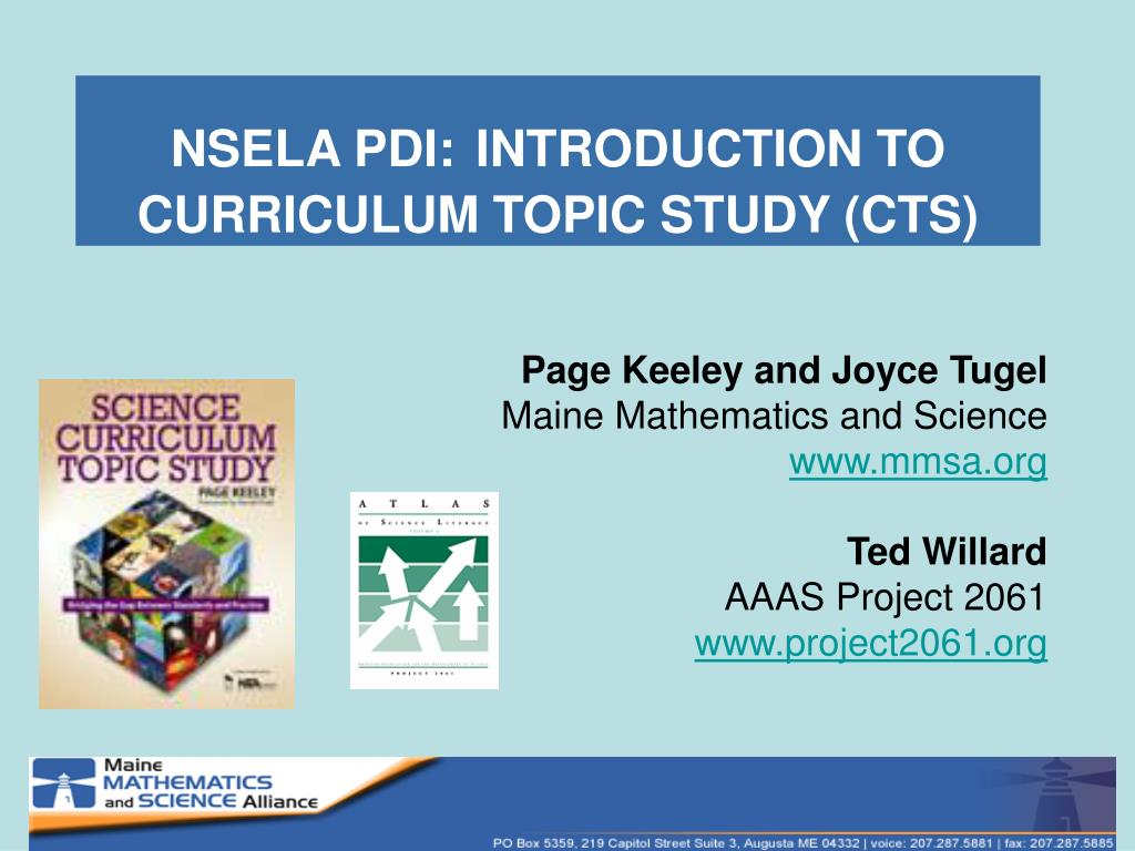 nsela pdi introduction to curriculum topic study cts l.