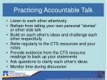 practicing accountable talk