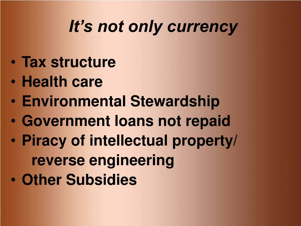 It's not only currency