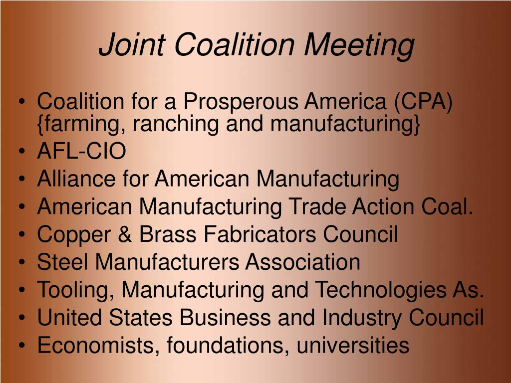 Joint Coalition Meeting
