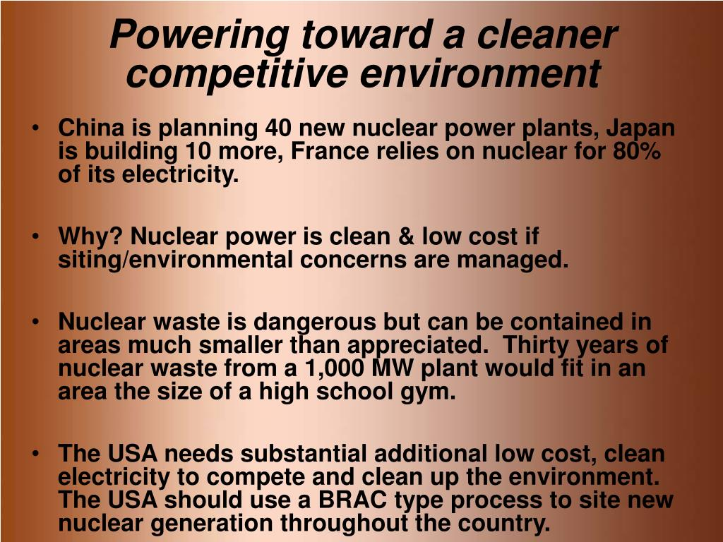 Powering toward a cleaner competitive environment
