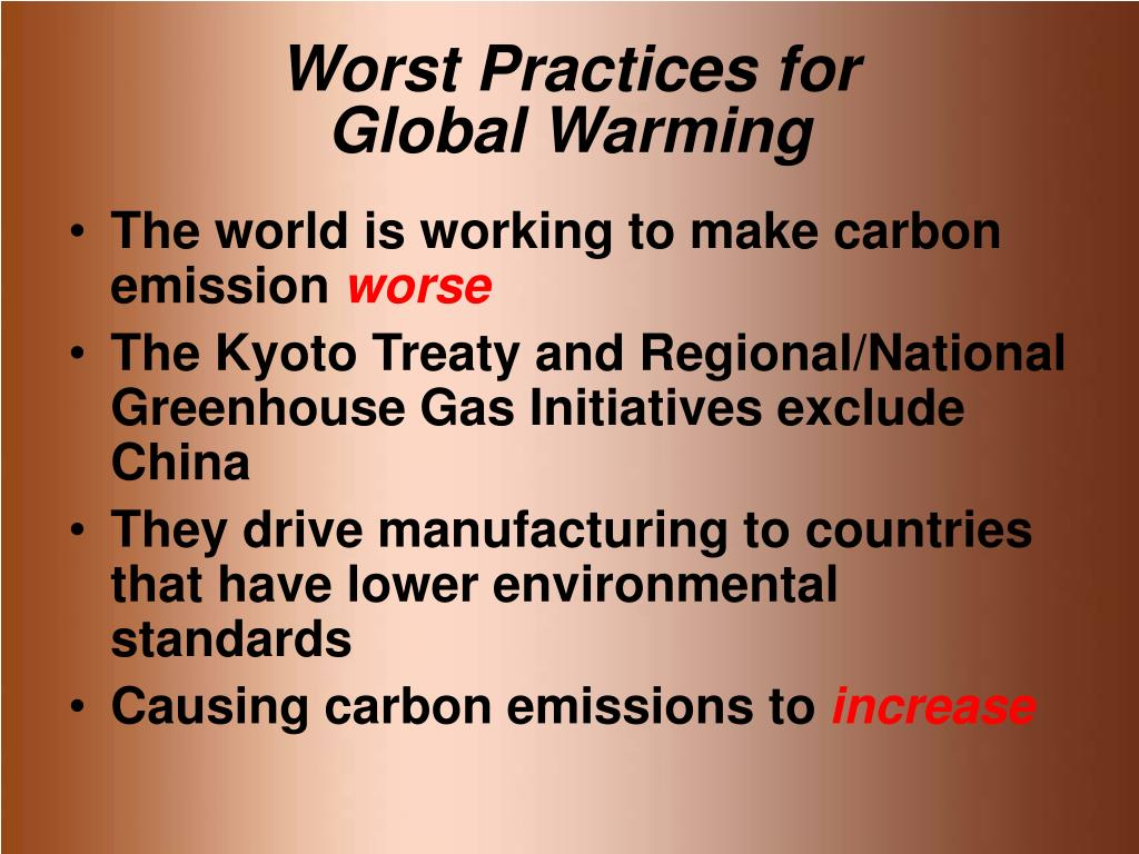 Worst Practices for
