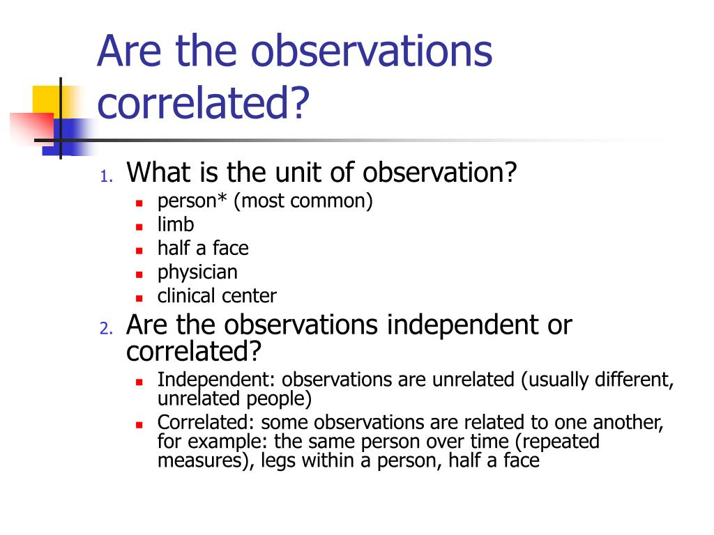 Are the observations correlated?