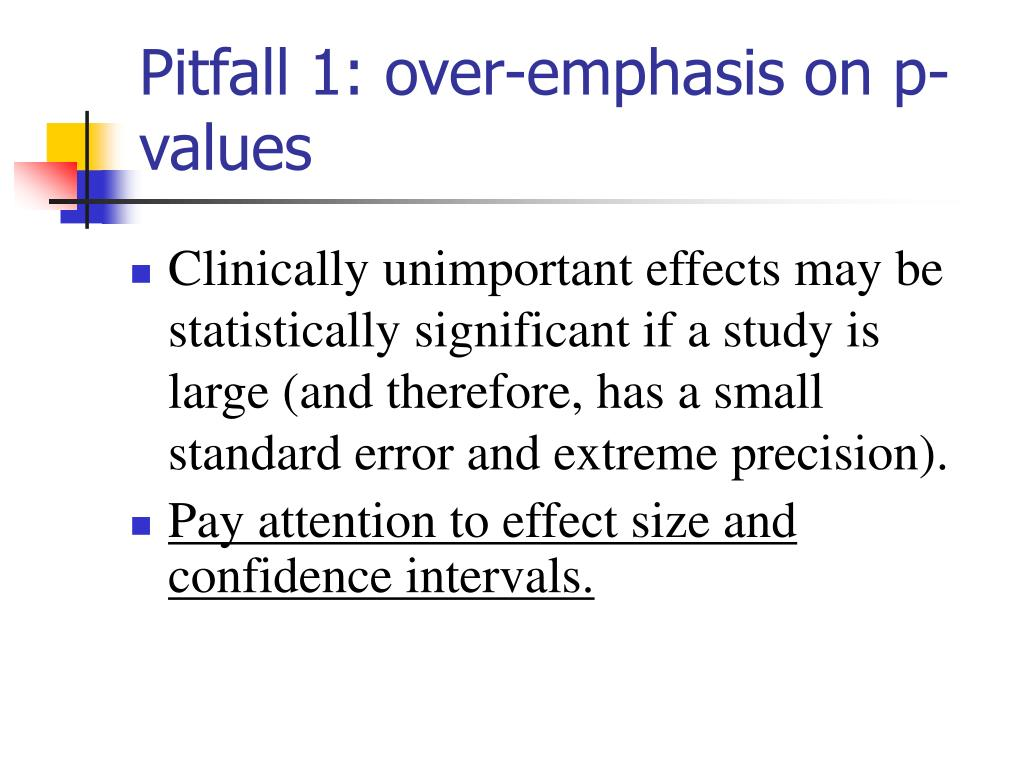 Pitfall 1: over-emphasis on p-values