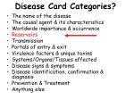 disease card categories11
