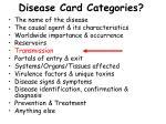 disease card categories13