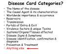 disease card categories25
