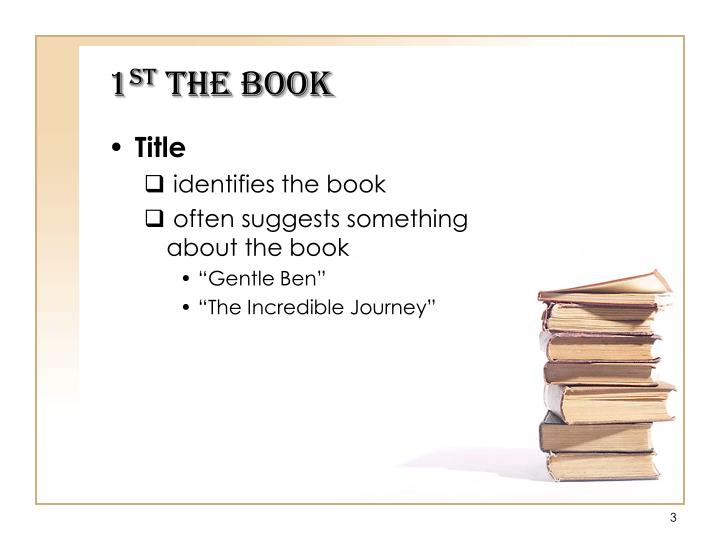 1 st the book