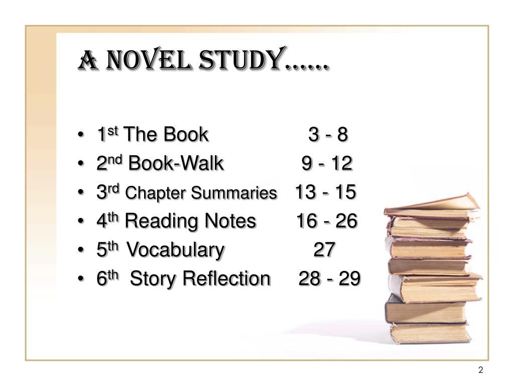 A Novel Study……