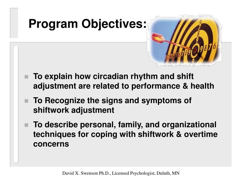 Program Objectives: