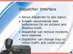 dispatcher interface