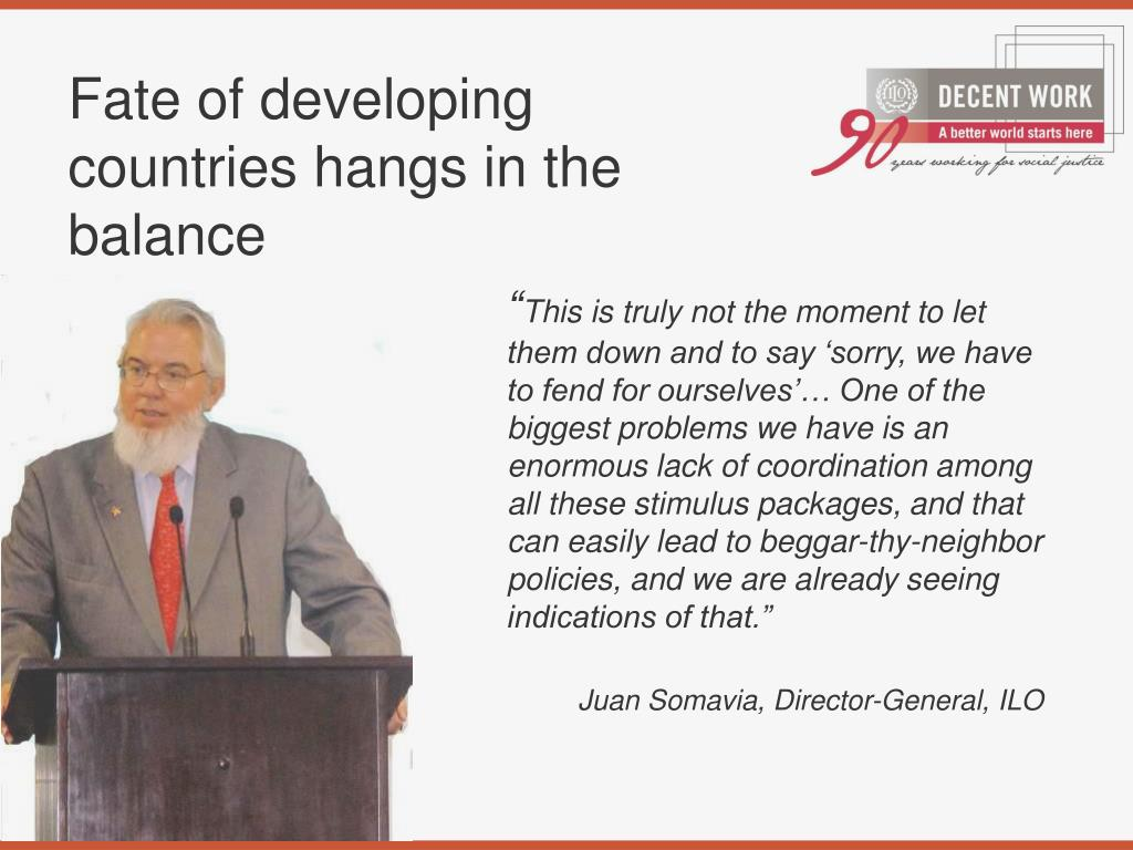 Fate of developing countries hangs in the balance