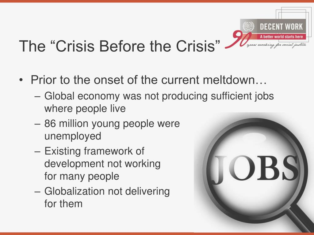 """The """"Crisis Before the Crisis"""""""