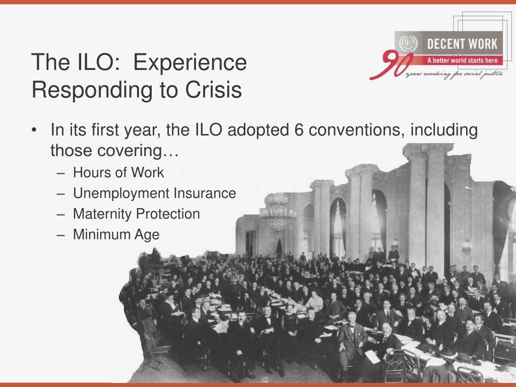 The ILO:  Experience Responding to Crisis
