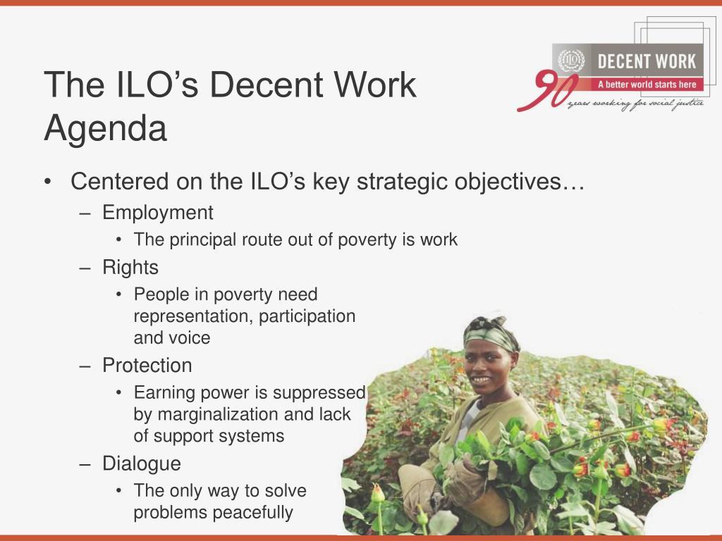 The ILO's Decent Work Agenda