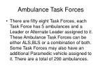 ambulance task forces