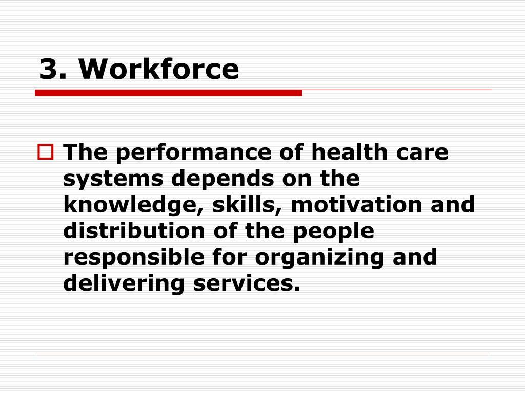 3. Workforce
