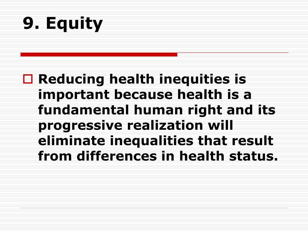 9. Equity
