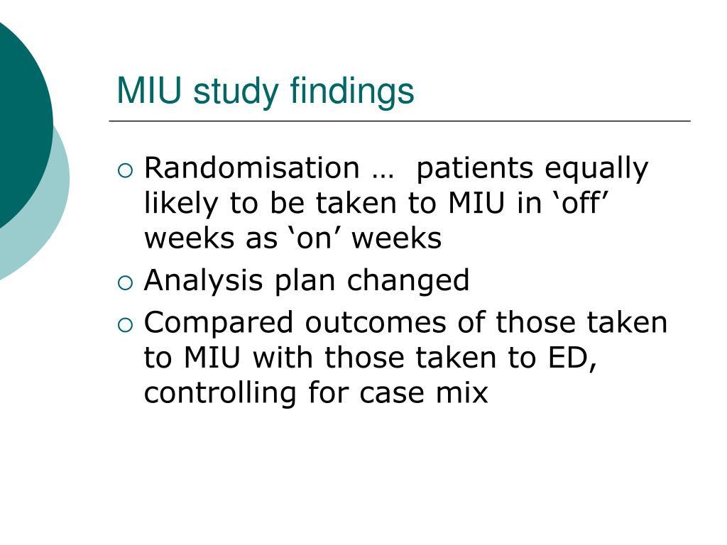 MIU study findings