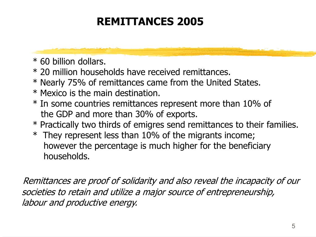REMITTANCES 2005