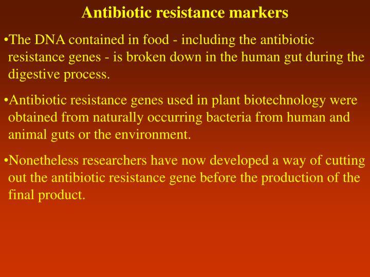 Antibiotic resistance markers