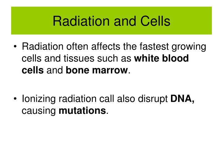 Radiation and cells1
