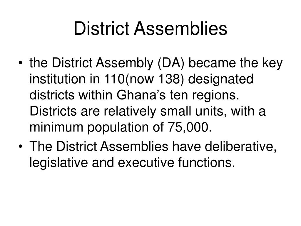 District Assemblies