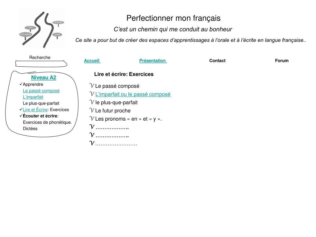 Perfectionner mon français