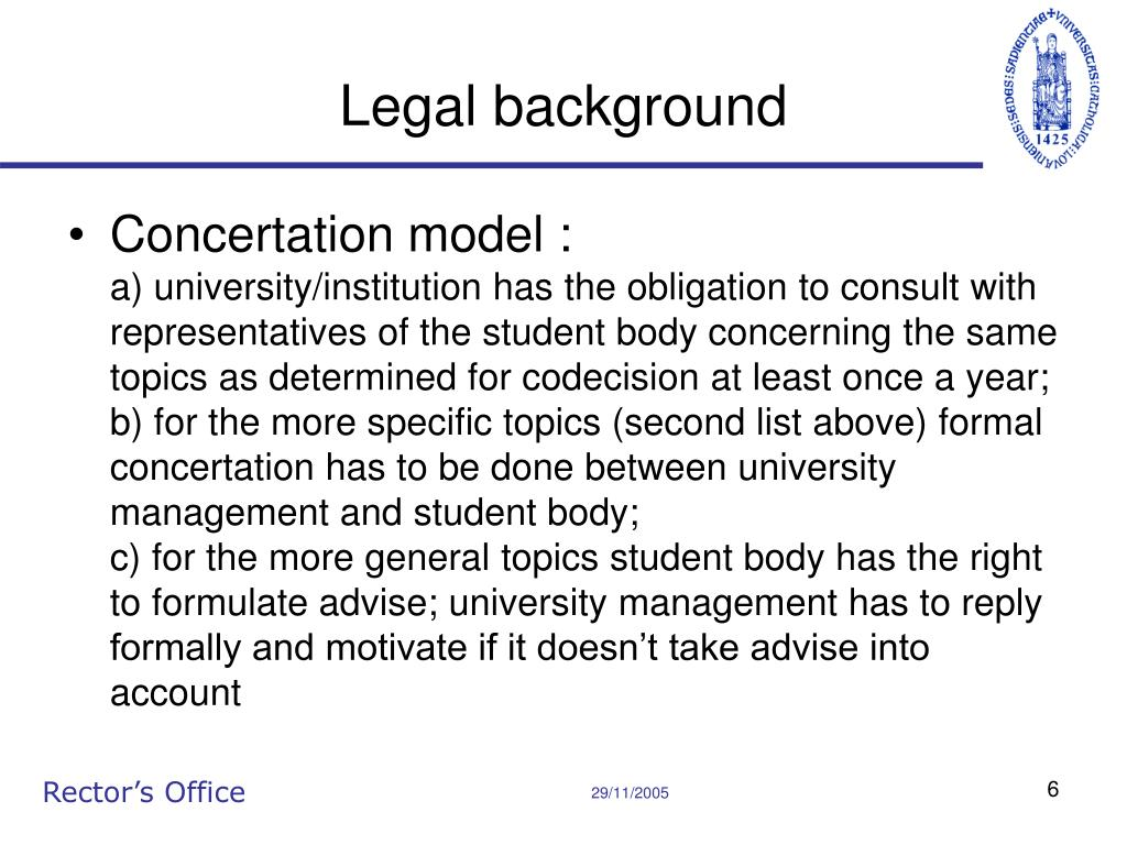 Legal background