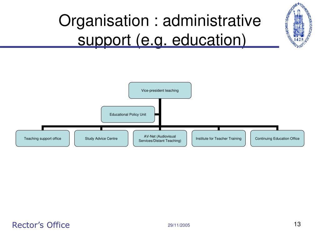 Organisation : administrative