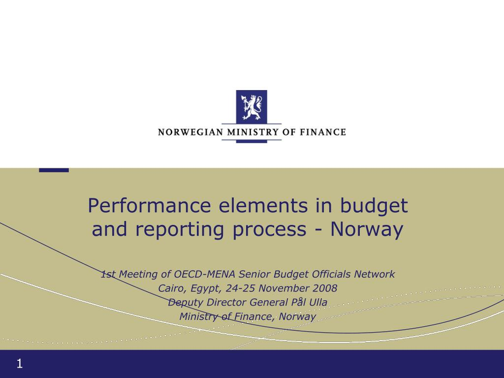 performance elements in budget and reporting process norway l.