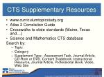 cts supplementary resources