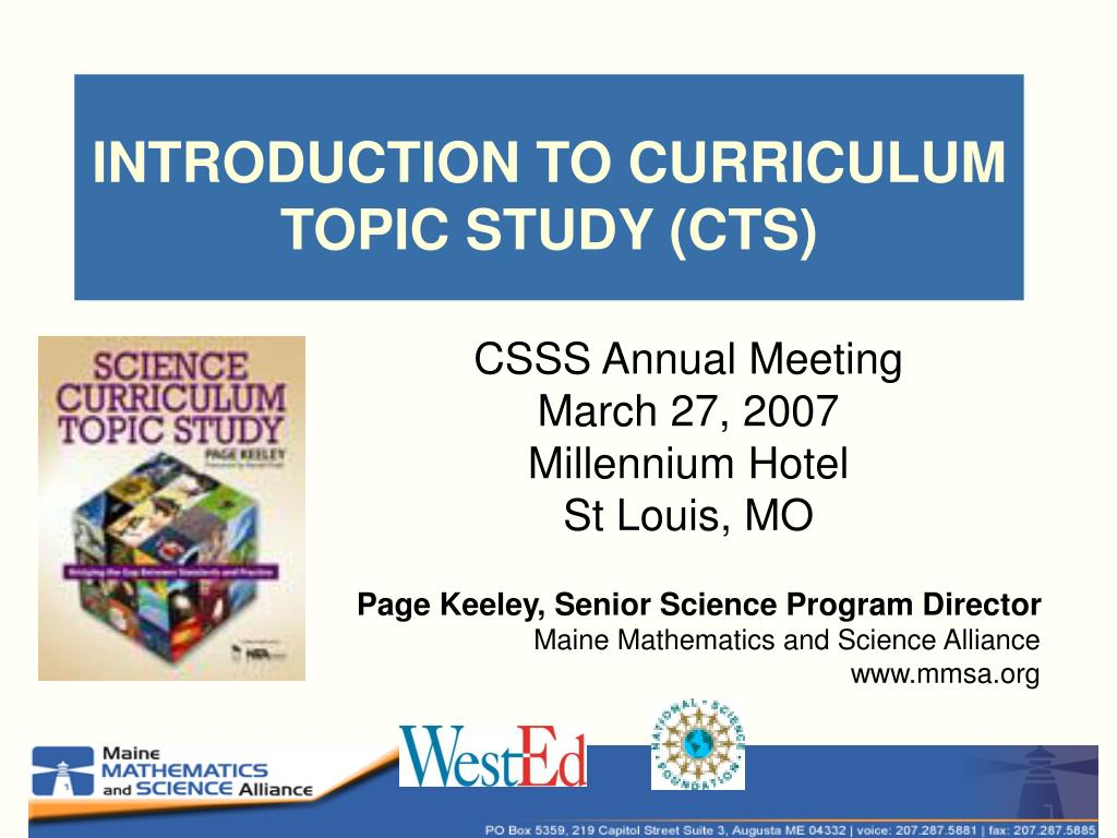 introduction to curriculum topic study cts l.