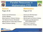 parallel resources in mathematics cts