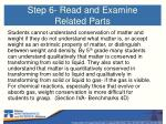step 6 read and examine related parts
