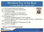 whirlwind tour of the book mark page with a sticky note