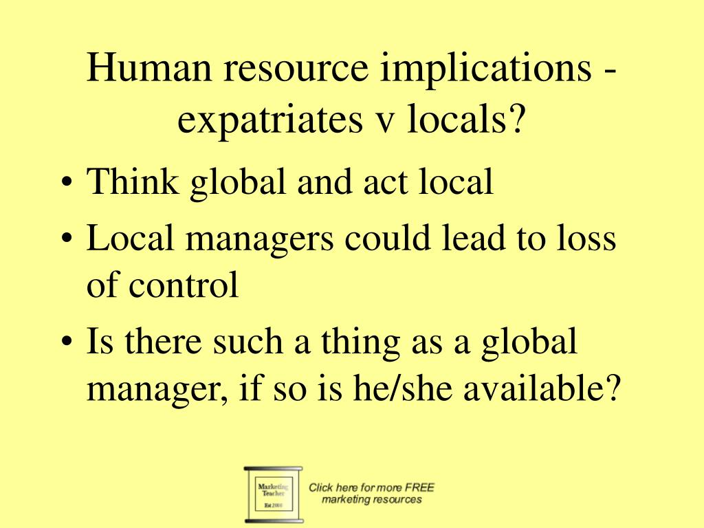 Human resource implications -