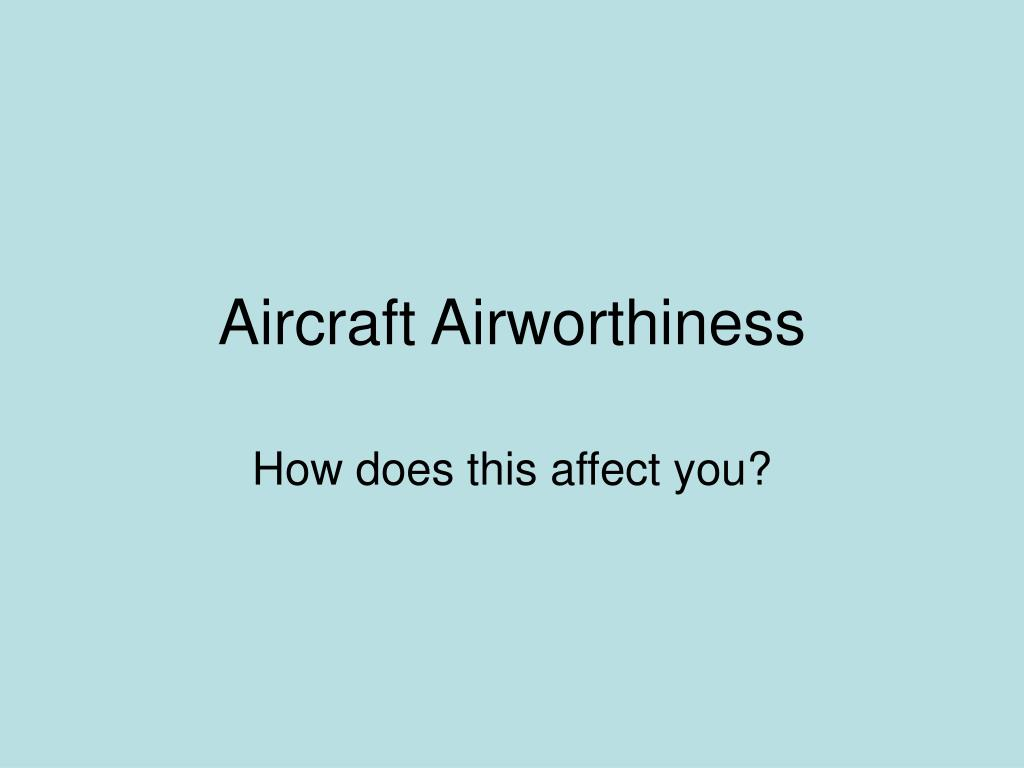 aircraft airworthiness l.
