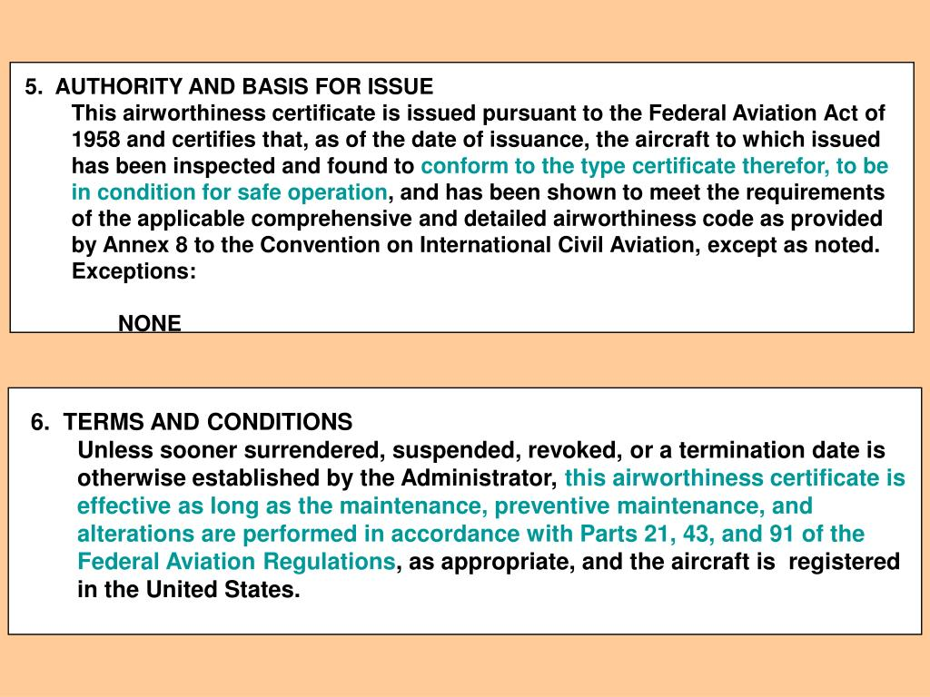 5.  AUTHORITY AND BASIS FOR ISSUE