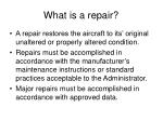 what is a repair