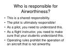 who is responsible for airworthiness