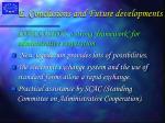e conclusions and future developments