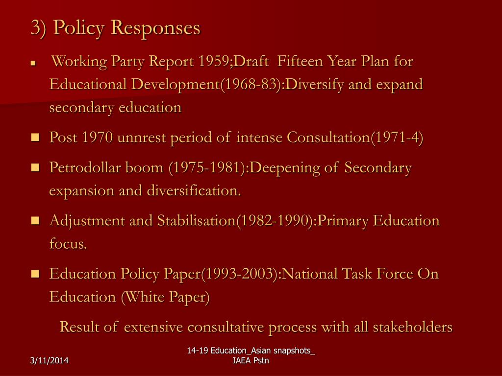 3) Policy Responses