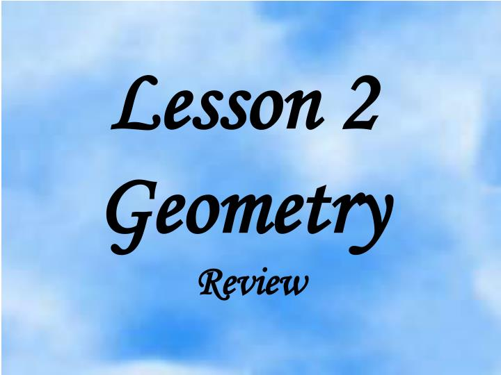 lesson 2 geometry n.