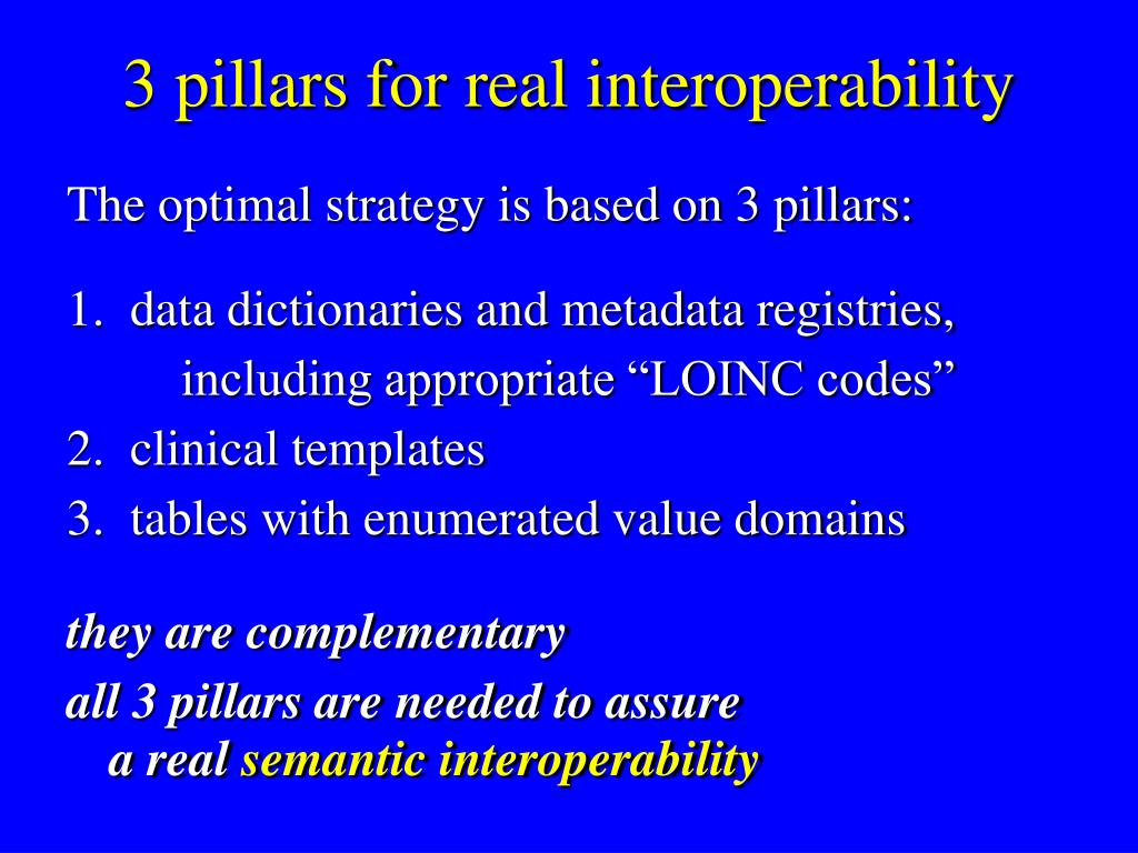 3 pillars for real interoperability