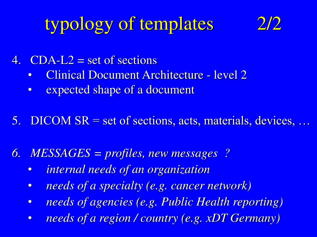typology of templates		2/2