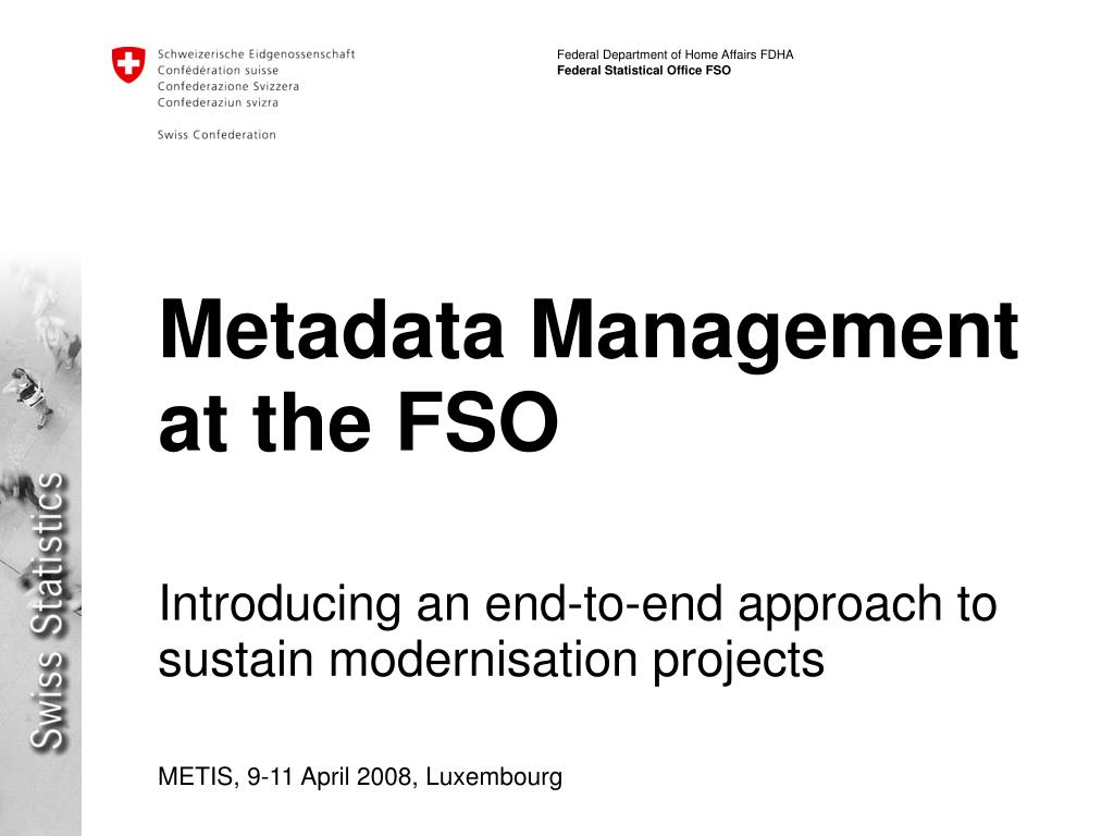 Metadata Management at the FSO