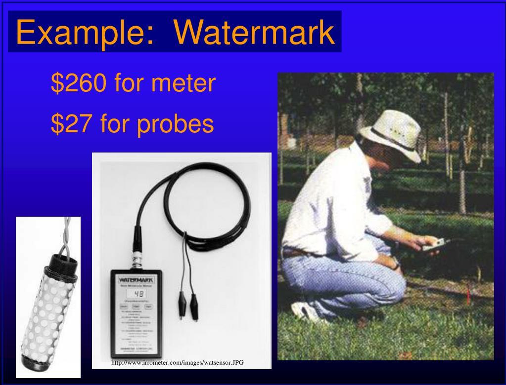 Example:  Watermark