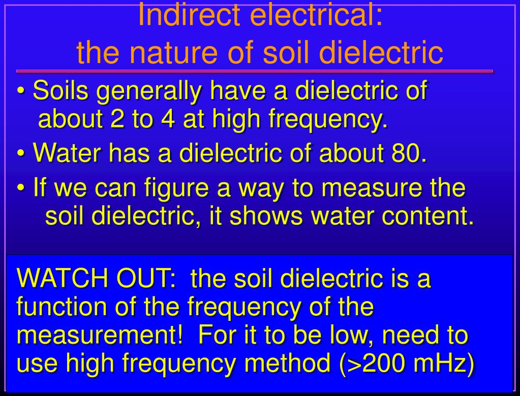 Indirect electrical: