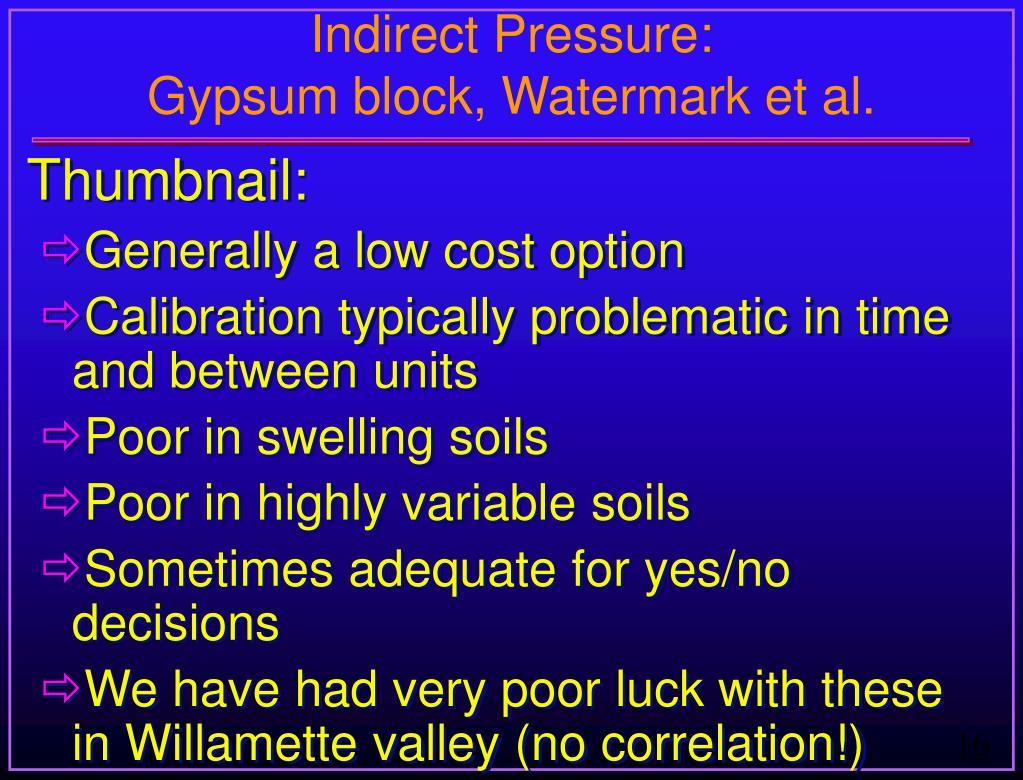 Indirect Pressure:
